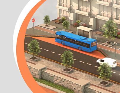 3D City Infographic