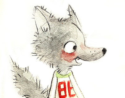 wolf cub Character design