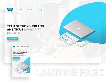 """Landing Page for IT Team """"WhaleStep"""""""
