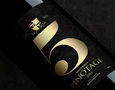 West Nest Lodge 5 Year Celebration Pinotage Wine Label