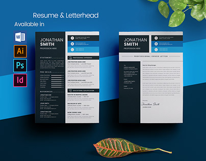Resume and Letterhead Template Layout