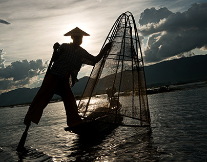 Stev Bonhage: Fishermen, Myanmar.