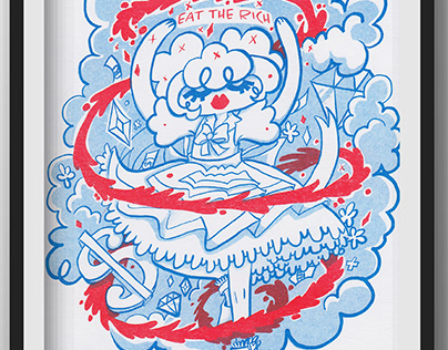 Eat the Rich Risograph