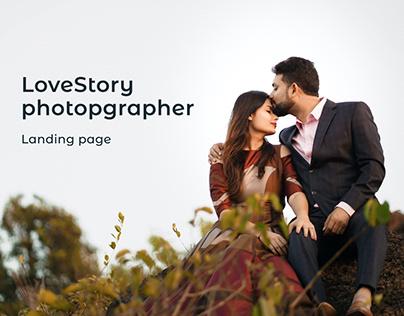 LoveStory photographer landing page