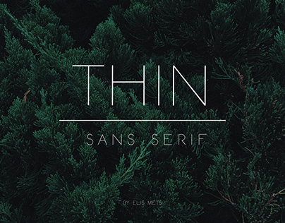Thin typeface