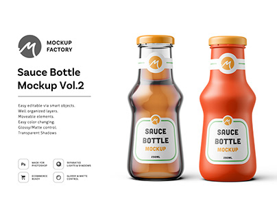 Sauce Bottle Mockup Vol.2