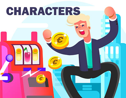 CASINO characters,35 banners for online slot machine