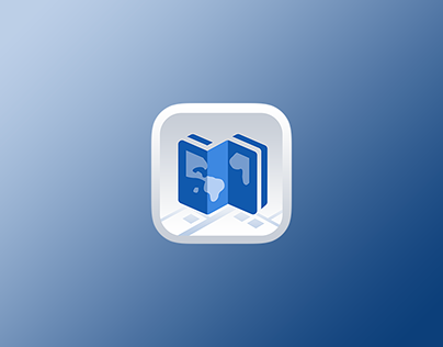 App icon design for Double map.