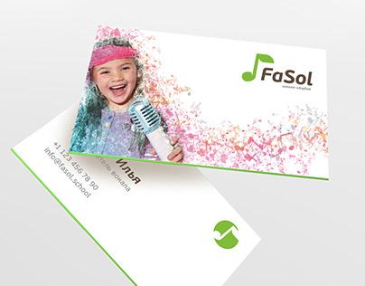 FaSol Music school Logo & ID