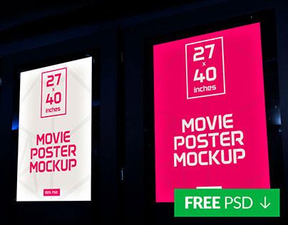 Free Movie Poster Mockup