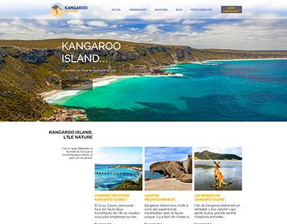 Kangaroo Island : Maquette site web & conceptboard logo