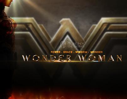 """""""Wonder Woman"""" Title PSD Text"""