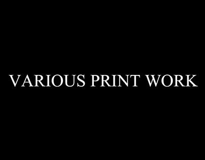 Various Print Designs