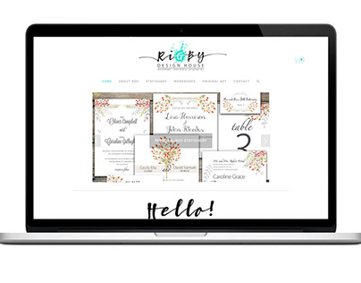 Rigby Design House Website