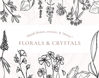 Messy florals & crystals