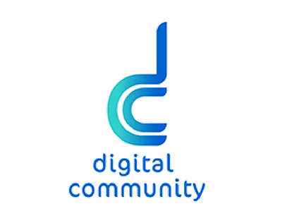 digtal community logo and identity