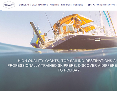 Yatch and Friends Web Design and Web App
