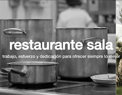 Diseño Web - Restaurante Sala