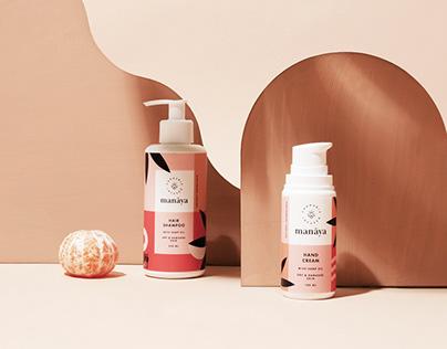 Manaya organic cannabis beauty branding