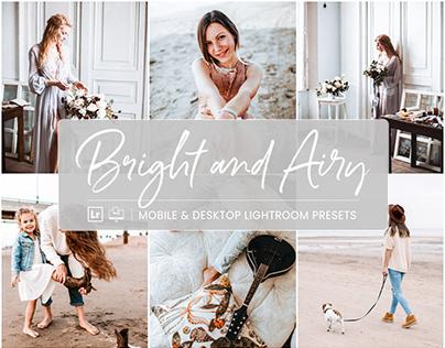 Bright and Airy - Mobile & Desktop Lightroom Presets
