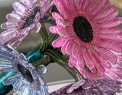 Realistic Wireart Flowers
