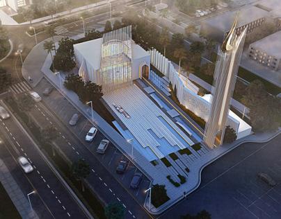 Iconic Mosque| Design & visualizations.