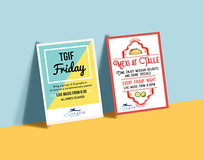 Club Talle Promotional Posters
