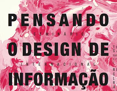 pensando o design de informação | cartaz
