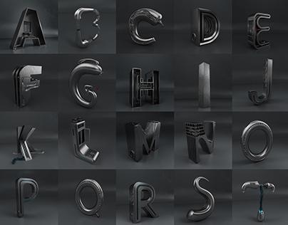 重金属工业风字体设计