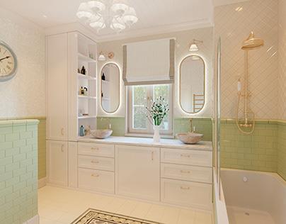 Provence bathroom