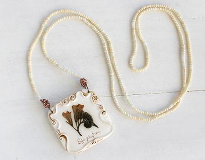 Real Flower Necklace - Grandma's Garden Jewelry