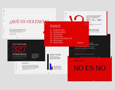 ¿QUÉ ES VIOLENCIA? / WEB DESIGN