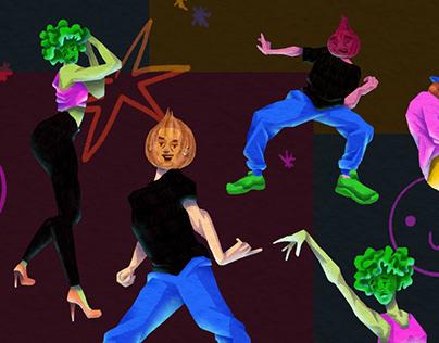 DANCING VEGETABLES / sketches & exploration