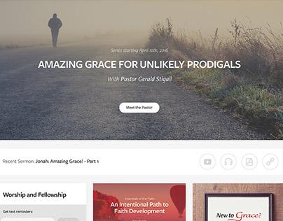 Grace Church Website Concept