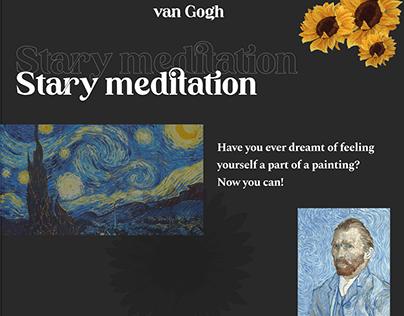 Vincent van Gogh Stary Meditation landing page