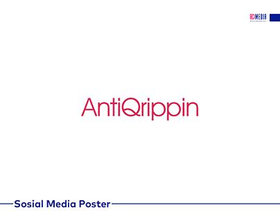 AntiQrippin üçün hazırlanmış sosial media posterləri