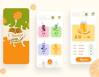 Juice mobile application ui