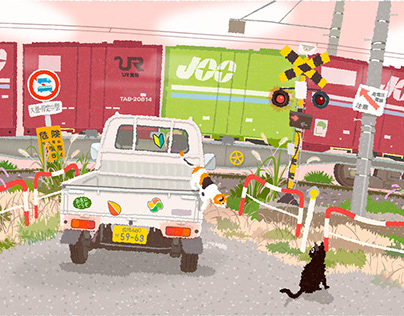 TABINEKO-Crossing and freight trains