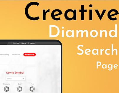 Creative Diamond Search Page.