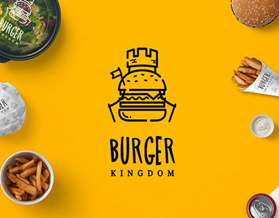 Burger Kingdom | Logo design and branding