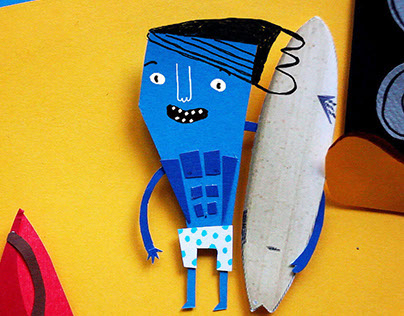 Experimental paper cutted animation for Mafia & Vans