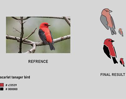 Scarlet tanager bird logo