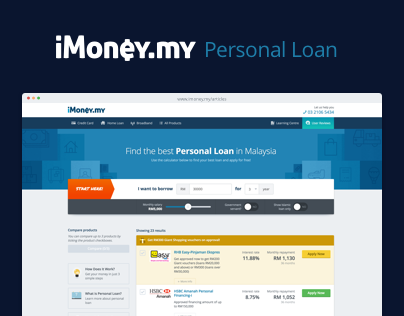 iMoney - Personal Loan Redesign