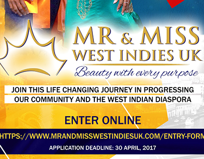 Mr & Miss West Indies 2017 Advertisement