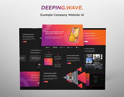 Website UI - Deeping Wave Alternate