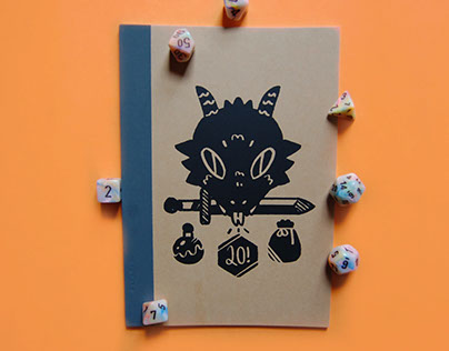 Dungeons and Dragons Notebook and Dice Bag