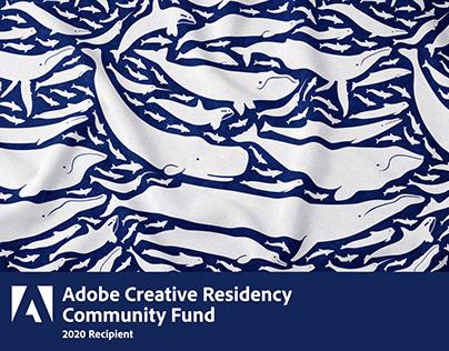 Adobe Creative Residency - Cetacea Pattern Design