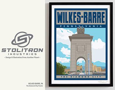 Wilkes-Barre, PA-Diamond City Poster