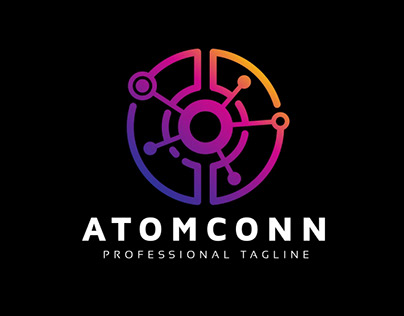 Atom Connection Electric Logo