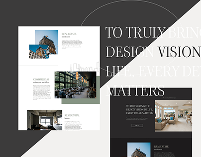 Landing page interior design studio
